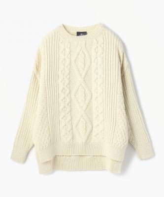 【aran】SWEATER/セーター アランホワイトARA00001