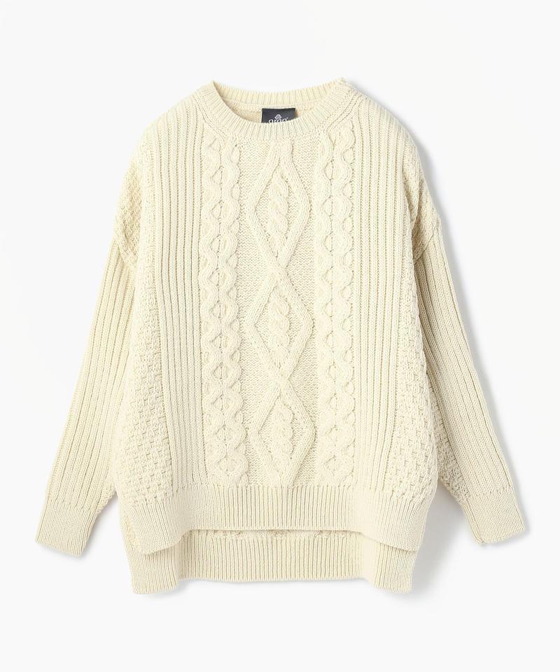 【aran】SWEATER/セーター アランホワイト