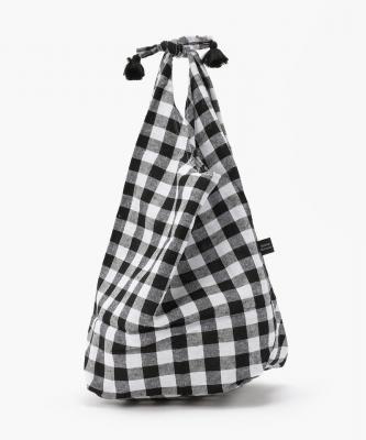 【Fatima morocco】バスケット巾着 - ギンガム ブラックFAT00022