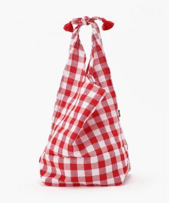 【Fatima Morocco】バスケット巾着 - ギンガム RedFAT00023