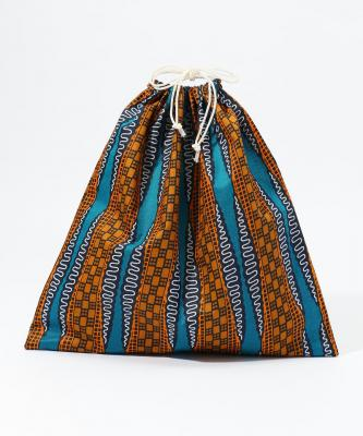【Fatima Morocco】巾着/アフリカンプリント マルチカラーFAT00037