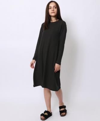 【GOOD STUDIOS】ALINE LONG SLEEB DRESS/Aライン ロングスリーブドレス ブラックGOO00006
