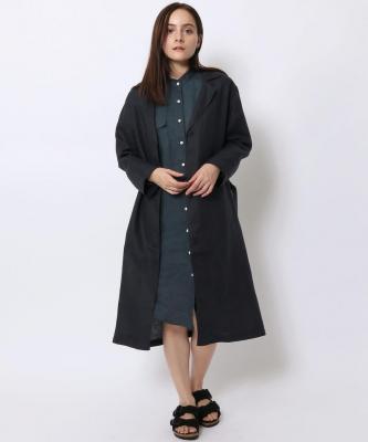 【GOOD STUDIOS】LINEN TRENCH/リネン トレンチ ネイビーGOO00020