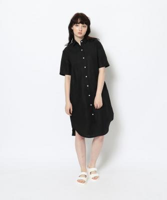 【GOOD STUDIOS】SHORT SLEEVE SHIRTDRESS/ショートスリーブシャツドレス ブラックGOO00202