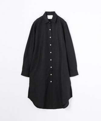 【GOOD STUDIOS】CLASSIC COLLAR SHIRTDRESS/クラシックカラー シャツドレス ブラックGOO00368