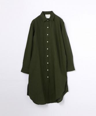 【GOOD STUDIOS】CLASSIC COLLAR SHIRTDRESS/クラシックカラー シャツドレス カーキGOO00371