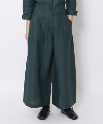【GOOD STUDIOS】LINEN WIDE LEG PANT/リネン ワイド レッグ パンツ インディゴGOO00374