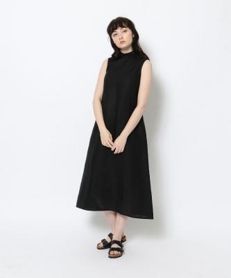 【GOODSTUDIOS】HIGH NECK SLEEVELESS DRESS/ハイネックスリーブレスドレス ブラックGOO00465