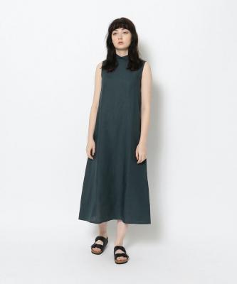【GOODSTUDIOS】HIGH NECK SLEEVELESS DRESS/ハイネックスリーブレスドレス インディゴGOO00466