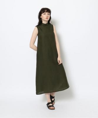 【GOODSTUDIOS】HIGH NECK SLEEVELESS DRESS/ハイネックスリーブレスドレス カーキGOO00469