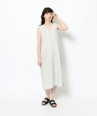 【GOODSTUDIOS】BUTTON V DRESS/ボタンVドレス ストライプGOO00484