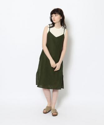 【GOOD STUDIOS】SLIP DRESS/スリップドレス カーキGOO00533