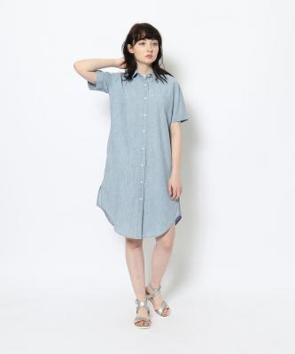 【GOOD STUDIOS】SHORT SLEEVE SHIRTDRESS/ショートスリーブシャツドレス ライトデニムGOO00569