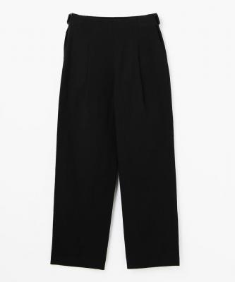 THE HINOKI■WIDE PANTS/ワイドパンツ コットンバフ ブラックHNK00004