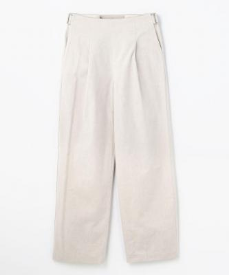 THE HINOKI■WIDE PANTS/ ワイドパンツ コットンバフ オートミールHNK00005