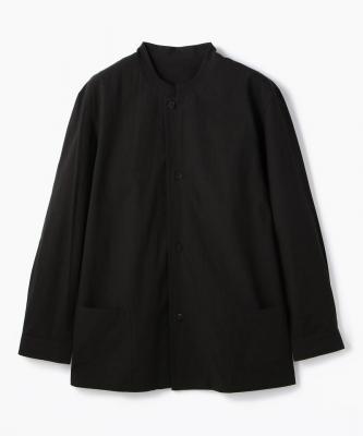 THE HINOKI■SHIRT//シャツ コットンボイル レギュラーカラーブラックHNK00010
