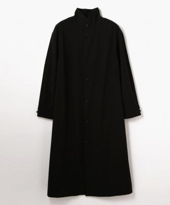 THE HINOKI■SHIRTDRESS/シャツドレス コットンボイルスタンドアップカラーブラックHNK00012