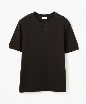 THE HINOKI■T-SHIRT/Tシャツ コットンオーガニック ヘンリーネック ダークグレーHNK00023
