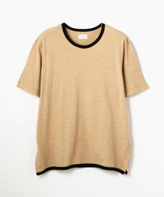 THE HINOKI■T-SHIRT/Tシャツ コットンオーガニック リンガーブラウンHNK00026