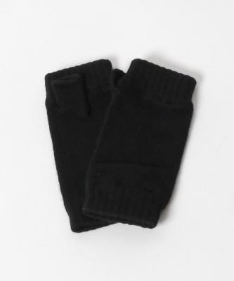 【Johnstons】カシミヤグローブ/ブラックJON00006
