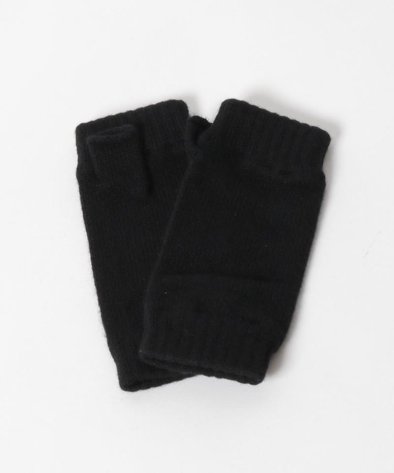 【Johnstons】カシミヤグローブ/ブラック