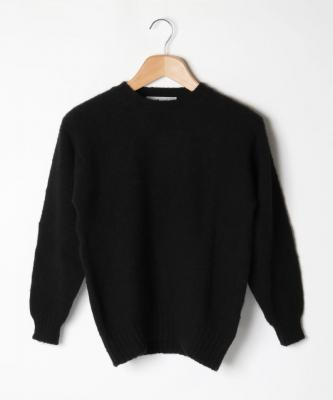 【LAURENCE J.SMITH】CREWNECK SWATER/クルーネックセーター ブラックJSM00001