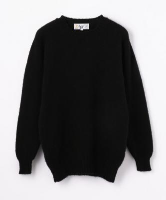 【LAURENCE J.SMITH】CREWNECK SWEATER/クルーネックセーター ブラック※ユニセックスサイズJSM00002