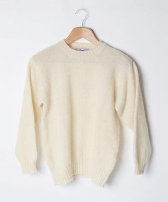 【LAURENCE J.SMITH】CREWNECK SWEATER/クルーネックセーター ホワイトJSM00003