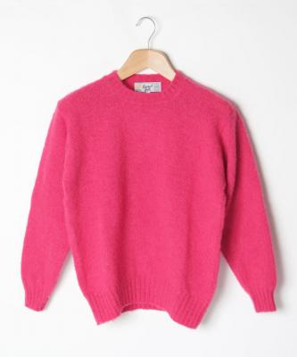 【LAURENCE J.SMITH】CREWNECK SWEATER/クルーネックセーター フューシャJSM00005