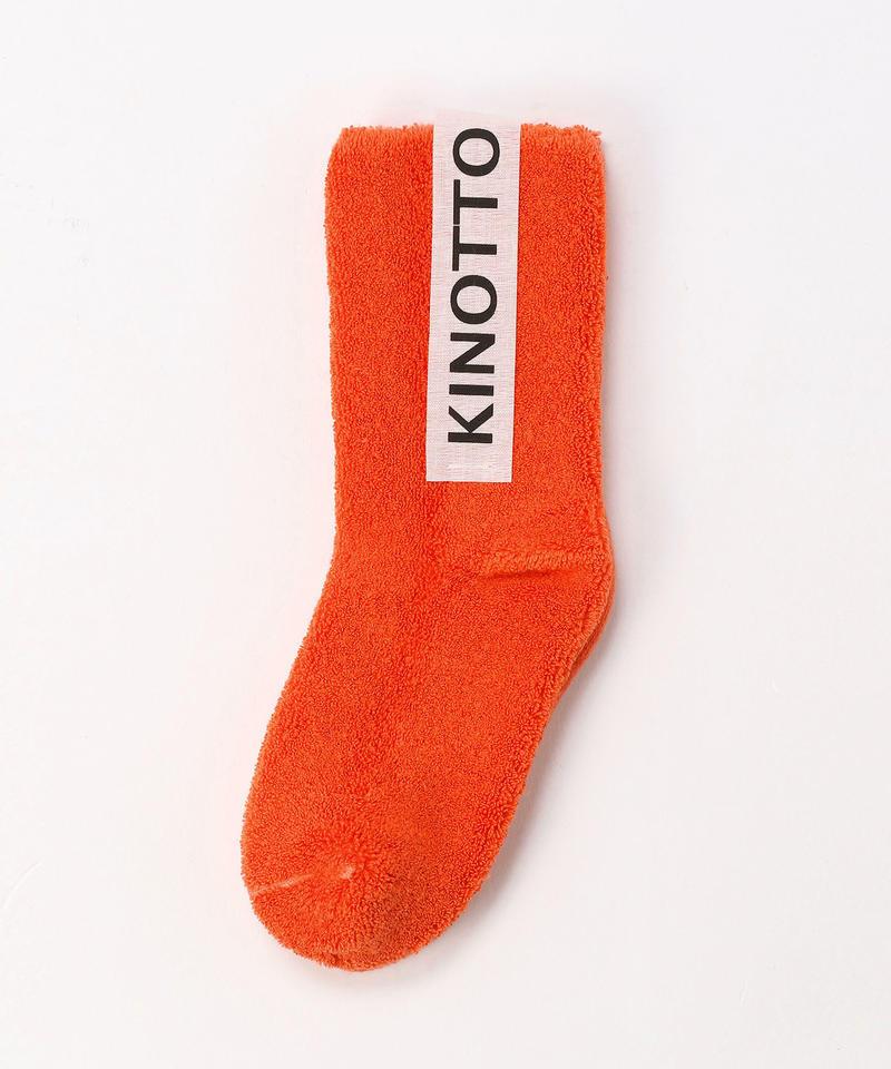 【KINOTTO】【キッズ】リバーシブルパイルソックス/レッド