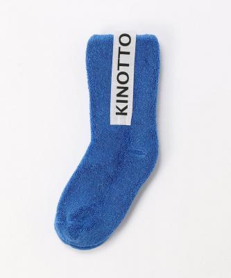 【KINOTTO】【キッズ】リバーシブルパイルソックス/ブルーKIN00004