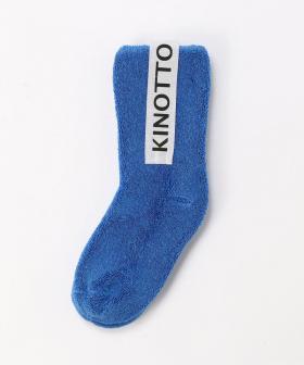 【KINOTTO】【キッズ】リバーシブルパイルソックス/ブルー