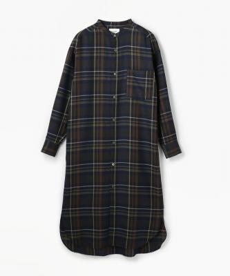 【LE GLAGK】 DRESS/ドレス ウールチェック ネイビーLEG00016