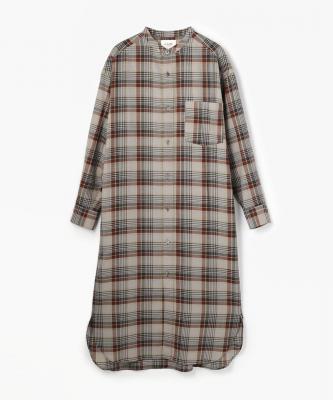 【LE GLAGK】 DRESS/ドレス ウールチェック グレーLEG00017