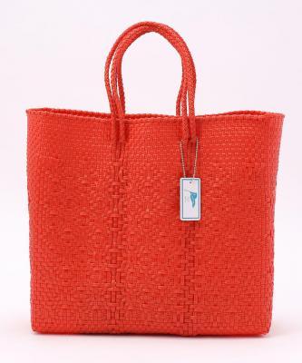 【Letra】MERCADOBAG Plastic Red M/メルカドバッグ プラスティック RedoLET00075