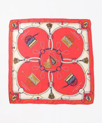 manipuri■SCARF/スカーフ シルク  カートオレンジ 65x65cmMPU00004