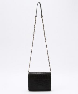 【O MY BAG】AUDREYMINI/オードリーミニ チェーン  ブラッククロコOMY00031
