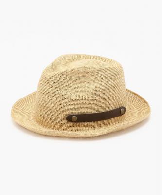 【田中帽子店】PAULO/ポーロ  ナチュラル×ブラウンベルトTNH00003