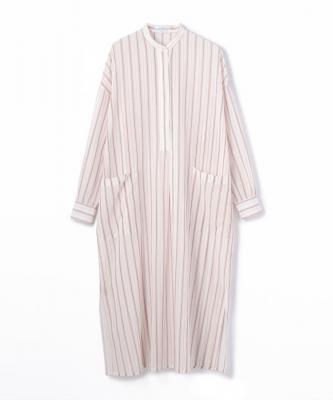 DRESS CTN COTTON STRIPE DRESS White-RedUND00003