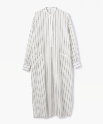 DRESS CTN COTTON STRIPE DRESS White-BlackUND00004