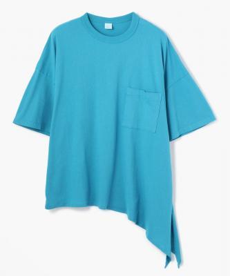 TEE CTN ORGANIC COTTON RIBBON TEE Turquoise/オーガニックコットンリボンTシャツUND00008