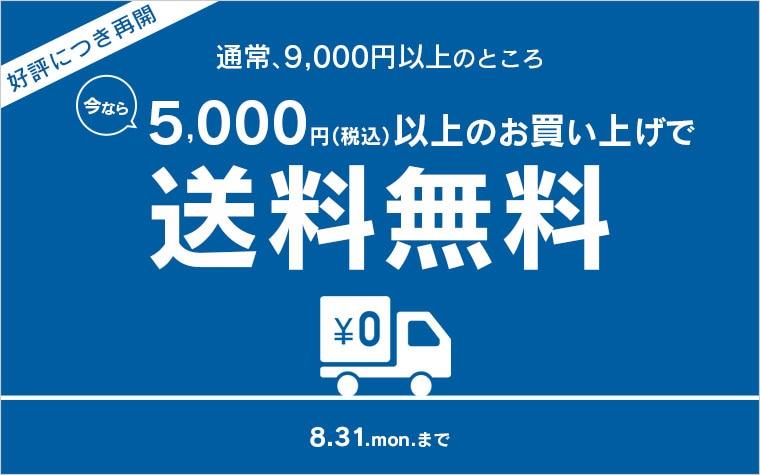 今なら5,000円で送料無料